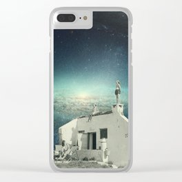 We Don't Belong Here Clear iPhone Case