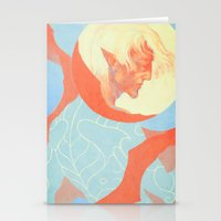 dragon age Stationery Cards featuring Dragon Age: Fenris by Couple Of Kooks