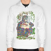 sia Hoodies featuring Vibrant Jungle Gorilla and Pet Cat by famenxt