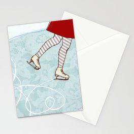 Ice Skating Stationery Cards