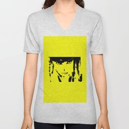 Abstract Yellow and Black Dani Unisex V-Neck