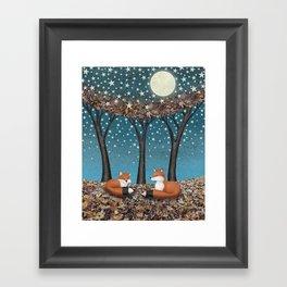 starlit foxes Framed Art Print
