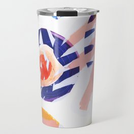 floral abstract Travel Mug