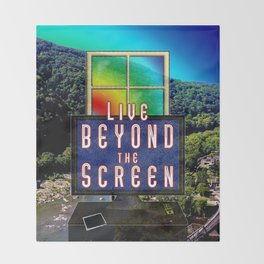 Live Beyond the Screen Throw Blanket