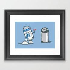 Robot Crush Framed Art Print