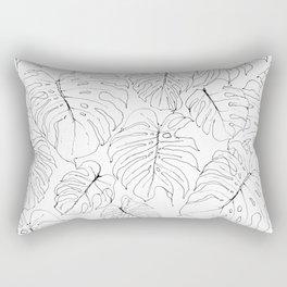 Monstera Deliciosa (Delicious Monster Leaves) Rectangular Pillow