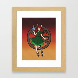 Little Hellcat Framed Art Print