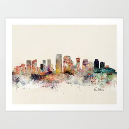 new orleans skyline Art Print