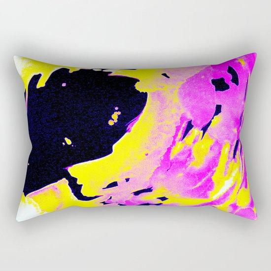 If Girls had their way with waves, Pink Minimal Water Rectangular Pillow