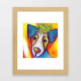 Dog Bird Nest Jack Russell Terrier Original Art The Nest Framed Art Print