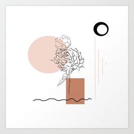Abstract Spots Marks Art Print