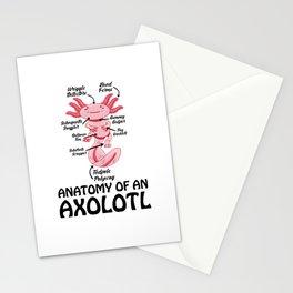 Anatomy Of An Axolotl Kawaii Mexican Fish Ocean Stationery Cards