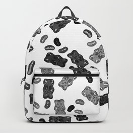 Black and White Gummy Bears Explosion Backpack