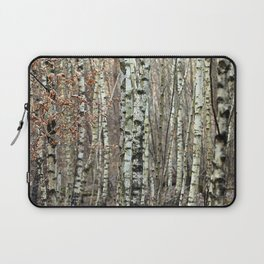 Birkenwald im Winter Laptop Sleeve