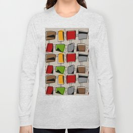 Mid-Century Abstract Rectangles Long Sleeve T-shirt