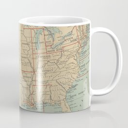 Vintage United States Lighthouse Map (1898) Coffee Mug