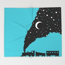the night train Throw Blanket