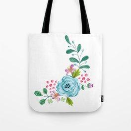 Smiley :) Flowers Tote Bag
