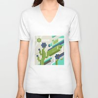tequila V-neck T-shirts featuring Tequila Party by Bakal Evgeny