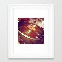 vinyl Framed Art Prints featuring Vinyl by haley lefever