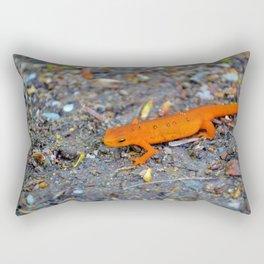 Red Spotted Newt Rectangular Pillow