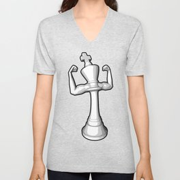 The White King Unisex V-Neck