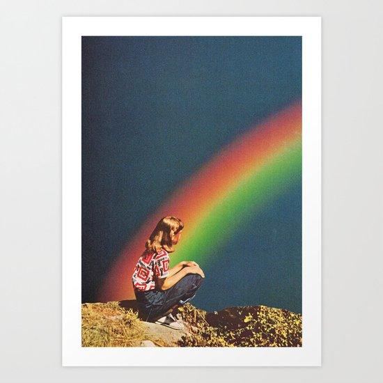 NIGHT RAINBOW Art Print
