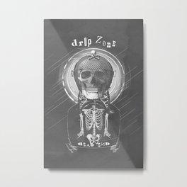 Drop Zone B&W old poster Metal Print