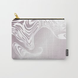 Rose Gold Liquid Marble Effect Design Carry-All Pouch