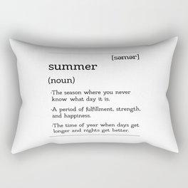 The Easy Breezy Definition of Summer Rectangular Pillow