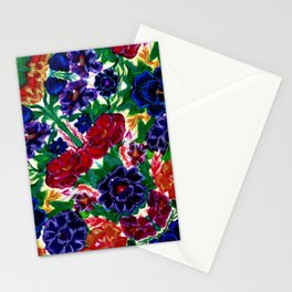 Blooming Embroidered Flowers Stationery Cards