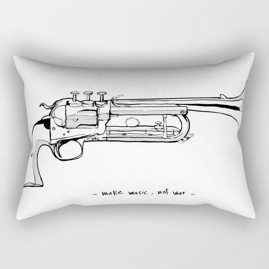 Make music, not war. Rectangular Pillow