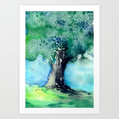 Oak Tree Art Print