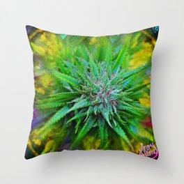 Marijuana Goddess Throw Pillow