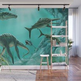 Underwater Dinosaur Wall Mural