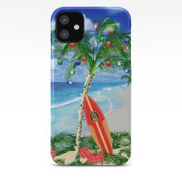 Beach Christmas iPhone Case