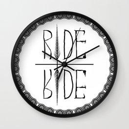 Ride Not Die Wall Clock