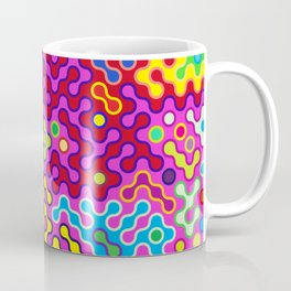 Abstract Psychedelic Pop Art Truchet Tile Pattern Coffee Mug