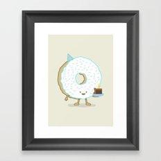 The Birthday Party Donut Framed Art Print