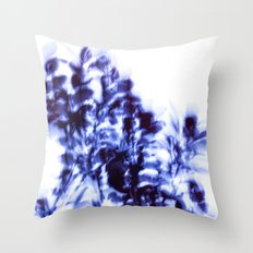 Impressionist leaves ~ indigo series 1 Throw Pillow