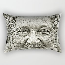 Portrait of a old man in the street Rectangular Pillow