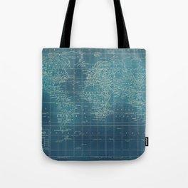 Grunge World Map Tote Bag