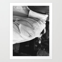 White Shirt at Izmir Art Print