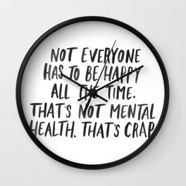 Mental Health Wall Clock