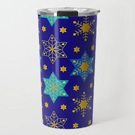 Hanukkah Holidays Star of David Contemporary Pattern Travel Mug
