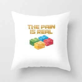 Danish Toy Bricks Blocks Building Games Builders Plaything The Pain Is Real Blocks Gift Throw Pillow