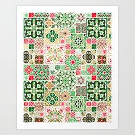 Moroccan Christmas Art Print