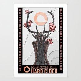 Cider Label- Antlers Art Print