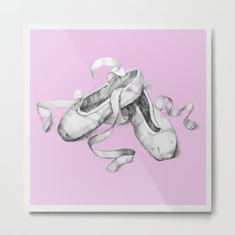Ballet shoes pink Metal Print