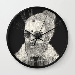 HOLLOWED MAN Wall Clock